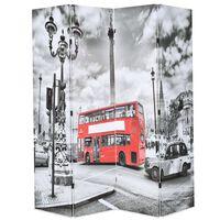 vidaXL Raumteiler klappbar 160 x 170 cm London Bus Schwarz-Weiß