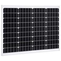 vidaXL Solarmodul 50 W Monokristallin Aluminium und Sicherheitsglas