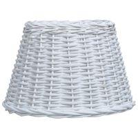 vidaXL Lampenschirm Korbweide 50 x 30 cm Weiß