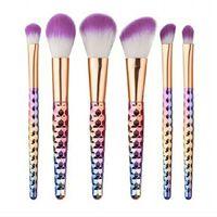 Make-up Pinsel Set, 6 Pinsel - Regenbogen
