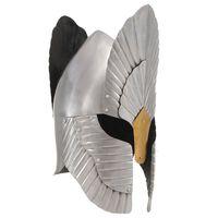 vidaXL Mittelalterlicher Fantasy Ritter-Helm für LARP Replik Silbern Stahl