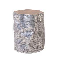 Couchtisch braun/silber zylindrisch GORDON