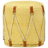 vidaXL Sitzpuff Gelb 40 x 40 cm Baumwoll-Leinwand
