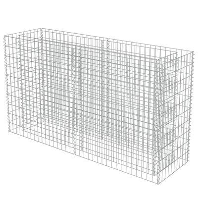 vidaXL Gabionen-Hochbeet Verzinkter Stahl 180×50×100 cm