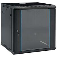 "vidaXL 12U Netzwerkschrank Wandmontage 19"" IP20 600x600x640 mm"
