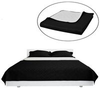 Zweiseitige Steppdecke Bettüberwurf Tagesdecke Schwarz/Weiß 170x210cm