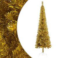vidaXL Schlanker Weihnachtsbaum Golden 240 cm