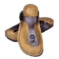 vidaXL Damen Biokork-Sandale im Flip Flop-Design Braun Größe 38
