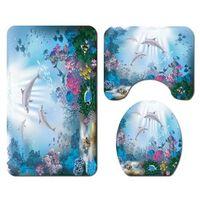 Wasserdichter 3d-delfin-ozean-design-duschvorhang Und
