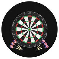 vidaXL Professionelles Dartboard Sisal mit 6 Darts und Surround