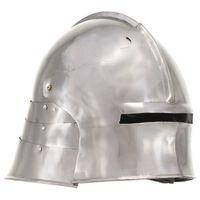 vidaXL Mittelalterlicher Ritterhelm Antik Replik LARP Silbern Stahl