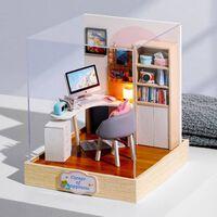 Möbel Miniatur Holz Miniaturen Puppenhaus Box Theater Spielzeug für