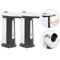vidaXL Automatische Seifenspender 2 Stk. Infrarot-Sensor 800 ml Gong