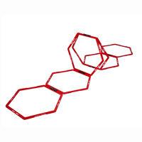 Pure2Improve Hexagon Koordinationsgitter 6 Stk. Rot