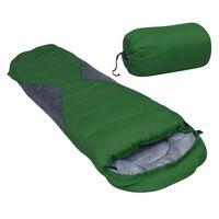 vidaXL Leichter Mumienschlafsack für Kinder Grün 670g 10°C