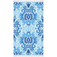 Happiness Strandtuch YOGI 100×180 cm Blau