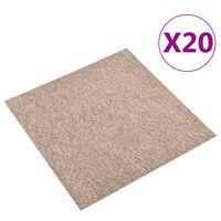 vidaXL Teppichfliesen 20 Stk. 5 m² 50x50 cm Beige