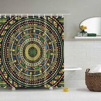 Geometrischer Böhmischer Duschvorhang Des Indischen Mandalas Mit