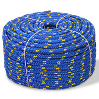 vidaXL Bootsseil Polypropylen 6 mm 100 m Blau
