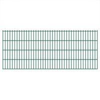 vidaXL 2D Gartenzaun-Elemente 2,008x0,83 m Gesamtlänge 24 m Grün