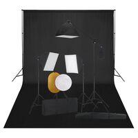 vidaXL Fotostudio-Set mit Softbox-Leuchten, Hintergrund und Reflektor