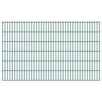vidaXL 2D Gartenzaun-Elemente 2,008x1,23 m Gesamtlänge 14 m Grün