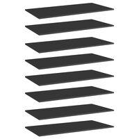vidaXL Bücherregal-Bretter 8 Stk. Hochglanz-Schwarz 80x20x1,5 cm