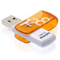 Philips USB-Stick Vivid 3.0 128 GB Weiß und Orange