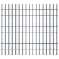 vidaXL 2D Gartenzaun-Elemente 2,008x1,83 m Gesamtlänge 6 m Grau