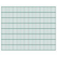 vidaXL 2D Gartenzaun-Elemente 2,008x1,63 m Gesamtlänge 42 m Grün