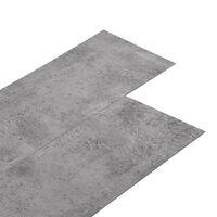 vidaXL PVC Laminat Dielen Selbstklebend 5,02 m² 2 mm Zementbraun