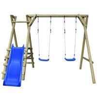 vidaXL Schaukelgestell mit Leitern und Rutsche 270x255x210 cm Kiefernholz