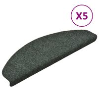 vidaXL Selbstklebende Treppenmatten 5 Stk. Grün 65x21x4cm Nadelvlies