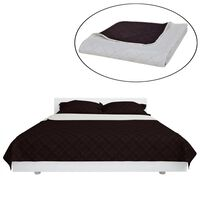 Zweiseitige Steppdecke Bettüberwurf Tagesdecke Beige/Braun 230x260cm