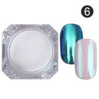 Spiegel Nagelpulver, Staub Metallic bunten Glitzer - UV Gelpolitur