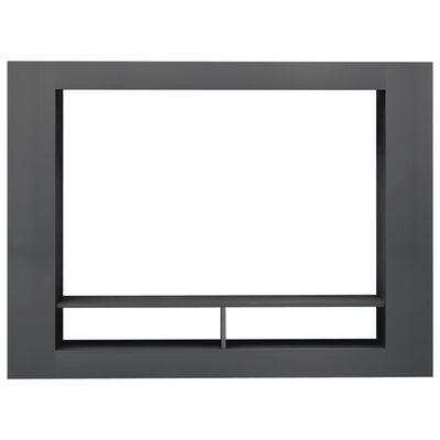 vidaXL TV-Schrank Hochglanz-Grau 152 x 22 x 113 cm Spanplatte