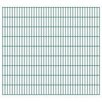 vidaXL 2D Gartenzaun-Elemente 2,008x1,83 m Gesamtlänge 6 m Grün