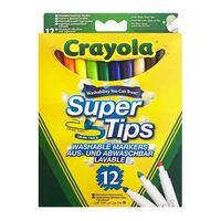 Crayola, 12x Filzstifte - Super Tips