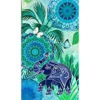 HIP Strandtuch ISARA 100×180 cm Blau und Grün