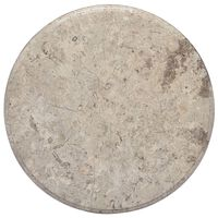 vidaXL Tischplatte Grau Ø50x2,5 cm Marmor