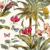 DUTCH WALLCOVERINGS Tapete Tropisch Grün und Rosa