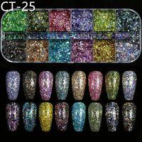 Gemischte Größe Nagel Glitter Flocken 3d Pailletten Paillette