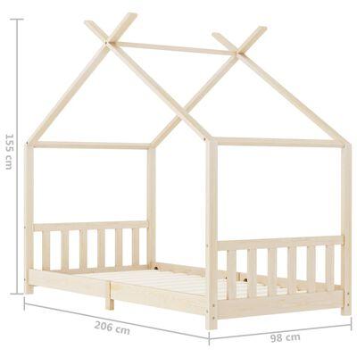 vidaXL Kinder-Bettgestell Massivholz Kiefer 90 x 200 cm