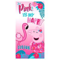 Peppa Pig, Strandtuch - Pink Is My Happy Colour