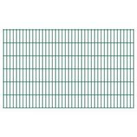 vidaXL 2D Gartenzaun-Elemente 2,008x1,23 m Gesamtlänge 44 m Grün