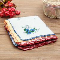 Vintage Taschentücher für Frauen mit Blumendruck - quadratische