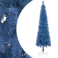 vidaXL Schlanker Weihnachtsbaum Blau 120 cm
