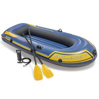 Intex Challenger 2 Set Aufblasbares Boot mit Ruder und Pumpe 68367NP