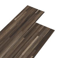vidaXL PVC Laminat Dielen 5,26 m² 2 mm Gestreift Braun