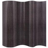 vidaXL Raumteiler Bambus Grau 250x165 cm